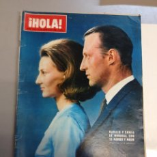 Collectionnisme de Magazine Hola: REVISTA HOLA Nº 1253 AÑO 1968. HARALD Y SONIA DE NORUEGA . JUAN CARLOS Y SOFIA.. Lote 95840455