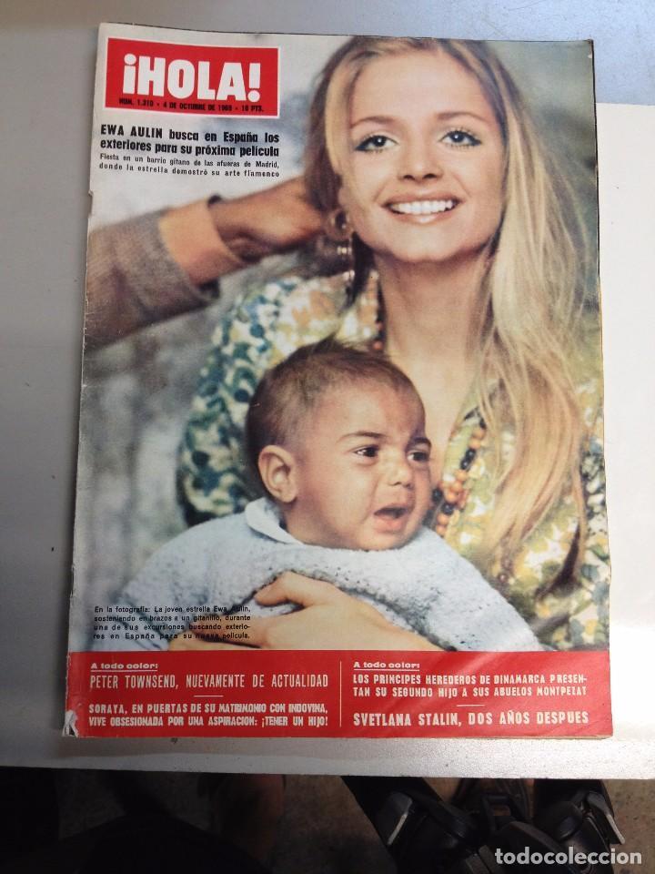 REVISTA HOLA 1310-4 OCTUBRE 1969, PORTADA EWA AULIN, PETER TOWNSEND, SVETLANA STALIN. (Coleccionismo - Revistas y Periódicos Modernos (a partir de 1.940) - Revista Hola)