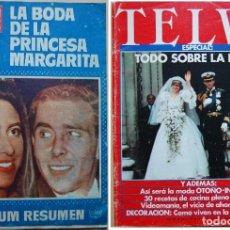 Coleccionismo de Revista Hola: ¡HOLA! LA BODA DE LA PRINCESA MARGARITA Y TELVA BODA DE CARLOS Y DIANA. Lote 96886851