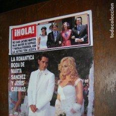Coleccionismo de Revista Hola: (F.1) REVISTA HOLA Nº 3025 AÑO 2002 (CARMEN BAZAN,RECOGIO A SU NIETA ANDREA EN BENIDORM DÍAS ANTES . Lote 97829984
