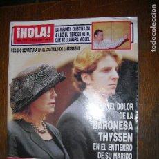 Coleccionismo de Revista Hola: (F.1) REVISTA HOLA Nº 3013 AÑO 2002 (CAROLINA HERRERA CONVIRTIÓ LA INAUGURACIÓN DE SU NUEVA TIENDA. Lote 97834843