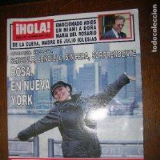 Coleccionismo de Revista Hola: (F.1) REVISTA HOLA Nº 3007 AÑO 2002 (ALEJANDRO SANZ DESCANSA UNOS DÍAS JUNTO A SU ESPOSA, JADY. Lote 97843791