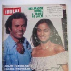 Coleccionismo de Revista Hola: REVISTA ¡HOLA! Nº 1769. 22 DE JULIO 1978. JULIO IGLESIAS E ISABEL PREYSLER SE SEPARAN. TDKR32. Lote 98014895