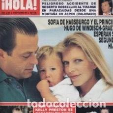 Coleccionismo de Revista Hola: REVISTA HOLA 2458 / 1991. SOFIA DE HABSBURGO Y PRINCIPE HUGO. BODA TRAVOLTA Y KELLY PRESTON/46. Lote 99221447