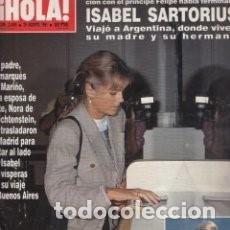 Coleccionismo de Revista Hola: REVISTA HOLA Nº 2455 AÑO 1991. ISABEL SARTORIUS. PRINCESA DIANA. JULIO IGLESIAS. GORBACHOV / 46. Lote 99477363