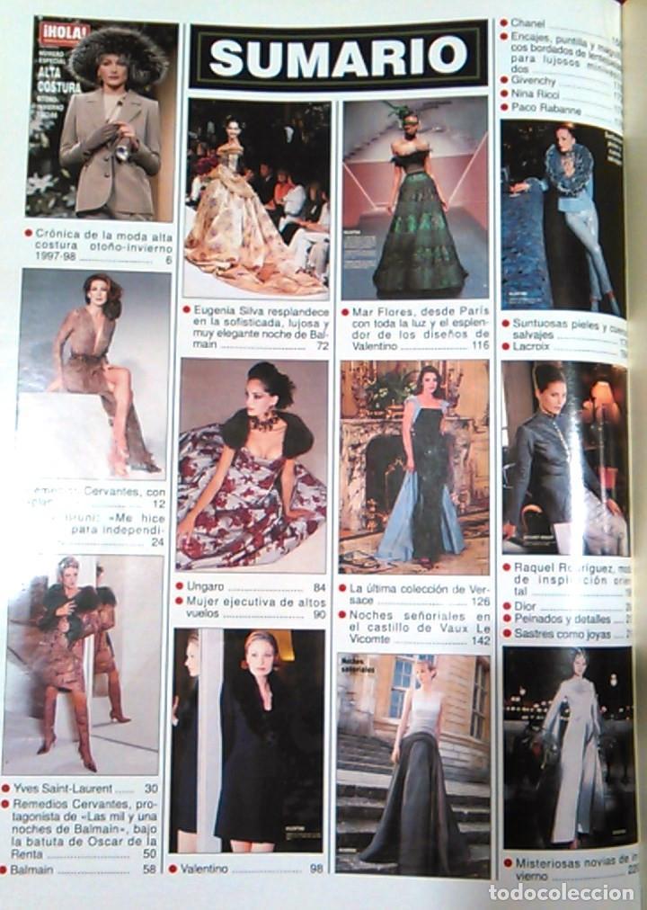 Coleccionismo de Revista Hola: Revista HOLA, número especial de Alta Costura. otoño invierno 1997-98. Modelos MODA DE LOS años 90. - Foto 2 - 99824503