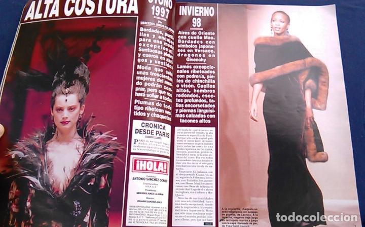 Coleccionismo de Revista Hola: Revista HOLA, número especial de Alta Costura. otoño invierno 1997-98. Modelos MODA DE LOS años 90. - Foto 4 - 99824503