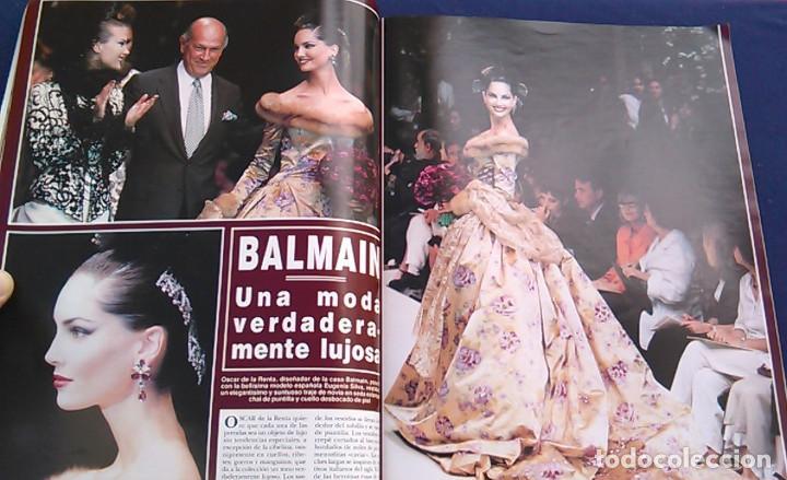 Coleccionismo de Revista Hola: Revista HOLA, número especial de Alta Costura. otoño invierno 1997-98. Modelos MODA DE LOS años 90. - Foto 9 - 99824503