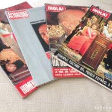 Coleccionismo de Revista Hola: LOTE REVISTAS HOLA Y ACTUALIDAD ESPAÑOLA FRANCO Y REY JUAN CARLOS. Lote 100245803