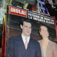 Coleccionismo de Revista Hola: HOLA PETICION DE MANO INFANTA ELENA. Lote 100364039