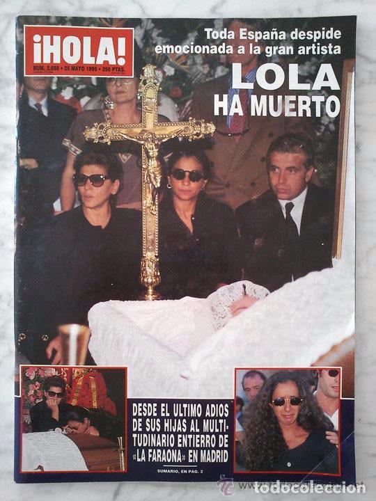 HOLA - 1995 LOLA FLORES, CAROLINA, JACLYN SMITH, EVA HERZIGOVA, ANA OBREGON, MISS UNIVERSO ESTEFANIA (Coleccionismo - Revistas y Periódicos Modernos (a partir de 1.940) - Revista Hola)