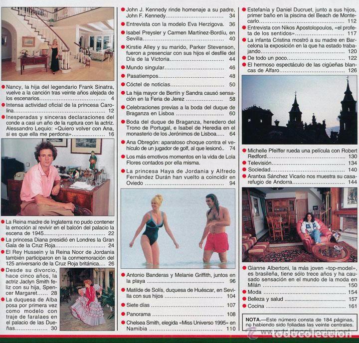 Coleccionismo de Revista Hola: HOLA - 1995 LOLA FLORES, CAROLINA, JACLYN SMITH, EVA HERZIGOVA, ANA OBREGON, MISS UNIVERSO ESTEFANIA - Foto 2 - 100524259
