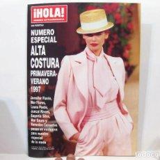 Coleccionismo de Revista Hola: REVISTA HOLA NÚMERO EXTRAORDINARIO - ESPECIAL ALTA COSTURA PRIMAVERA VERANO 1997. Lote 100697495