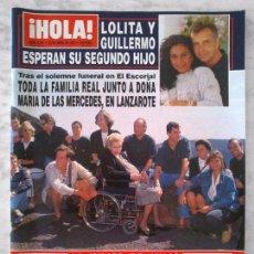 Collectionnisme de Magazine Hola: HOLA - 1993 - JOSE MANUEL SOTO, CINDY CRAWFORD, ROCIO JURADO, LOLITA, ANTONIO BANDERAS, MADONNA. Lote 100753495
