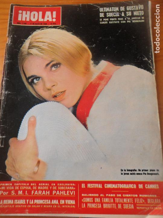 ¡HOLA! Nº 1290 DE 1969- PIA DEGEMARK- AUDREY HEPBURN- GINA LOLLOBRIGIDA- LANA TURNER- SACHA DISTEL + (Coleccionismo - Revistas y Periódicos Modernos (a partir de 1.940) - Revista Hola)