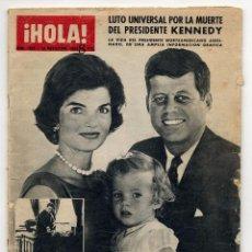 Coleccionismo de Revista Hola: HOLA Nº 1005 30-11-1963 LUTO UNIVERSAL POR LA MUERTE DEL PRESIDENTE KENNEDY. Lote 103195339