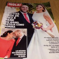 Coleccionismo de Revista Hola: REVISTA HOLA / 3768 / OCTUBRE 2016 / LA EMOTIVA BODA DE KIKO E IRENE. / COMO NUEVA.. Lote 103956691