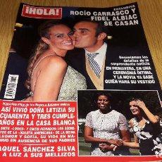 Coleccionismo de Revista Hola: REVISTA HOLA / 3713 / SEPTIEMBRE 2015 / ROCIO CARRASCO Y FIDEL ALBIAC SE CASAN / COMO NUEVA.. Lote 103960063