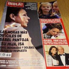 Coleccionismo de Revista Hola: REVISTA HOLA / 3716 / OCTUBRE 2015 / LAS HORAS MAS DIFÍCILES DE ISABEL PANTOJA Y SU HIJA, ISA.. Lote 103962499