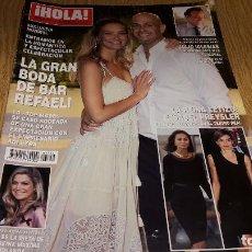 Coleccionismo de Revista Hola: REVISTA HOLA / 3714 / OCTUBRE 2015 / LA GRAN BODA DE BAR REFAELI / COMO NUEVA.. Lote 104106511