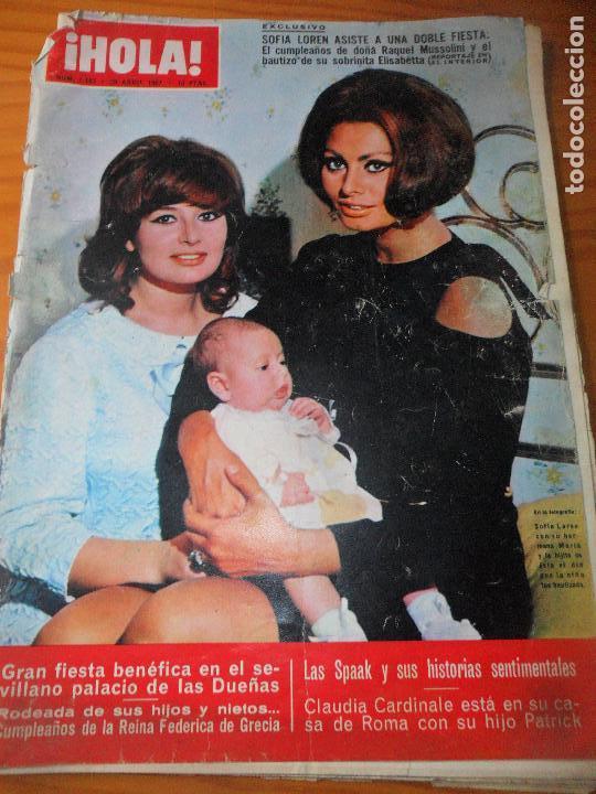 ¡HOLA! Nº 1183 DE 1967- SOFIA LOREN- JAMES BOND- CLAUDIA CARDINALE- BRIGITTE BARDOT- JAYNE MANSFIELD (Coleccionismo - Revistas y Periódicos Modernos (a partir de 1.940) - Revista Hola)