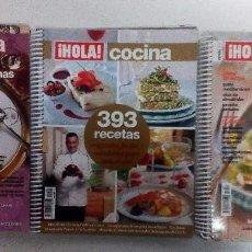 Coleccionismo de Revista Hola: ¡HOLA! COCINA LOTE DE 3 REVISTAS-LIBROS CON ANILLAS. MUY BUEN ESTADO. VER FOTOGRAFÍAS Y DESCRIPCIÓN. Lote 104345719