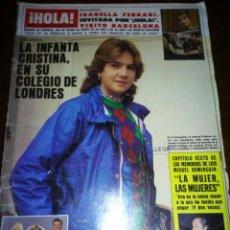 Coleccionismo de Revista Hola: REVISTA HOLA, INFANTA CRISTINA EN SU COLEGIO EN LONDRES, NUMERO 2047, NOVIEMBRE 1983. Lote 105379312