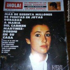 Coleccionismo de Revista Hola: REVISTA HOLA, CARMEN MARTINEZ BORDIU, NOVIEMBRE 1983, NUMERO 2046. Lote 105380555