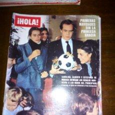 Coleccionismo de Revista Hola: REVISTA HOLA, PRIMERAS NAVIDADES SIN LA PRINCESA GRACIA, ENERO 1983, NUMERO 2001. Lote 105381436