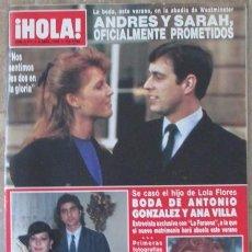 Coleccionismo de Revista Hola: HOLA 2171 1986 LOLA FLORES, YASMIN AGA KHAN, UN, DOS, TRES... NINA FERRER, ESTEFANIA DE MONACO. Lote 105899787