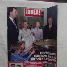 Colecionismo da Revista Hola: REVISTA ¡ HOLA ! - HISTORICO BAUTIZO DE LA INFANTA LEONOR . Lote 107680611