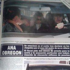 Coleccionismo de Revista Hola: ANA OBREGON- RECORTE REVISTA. Lote 107889763