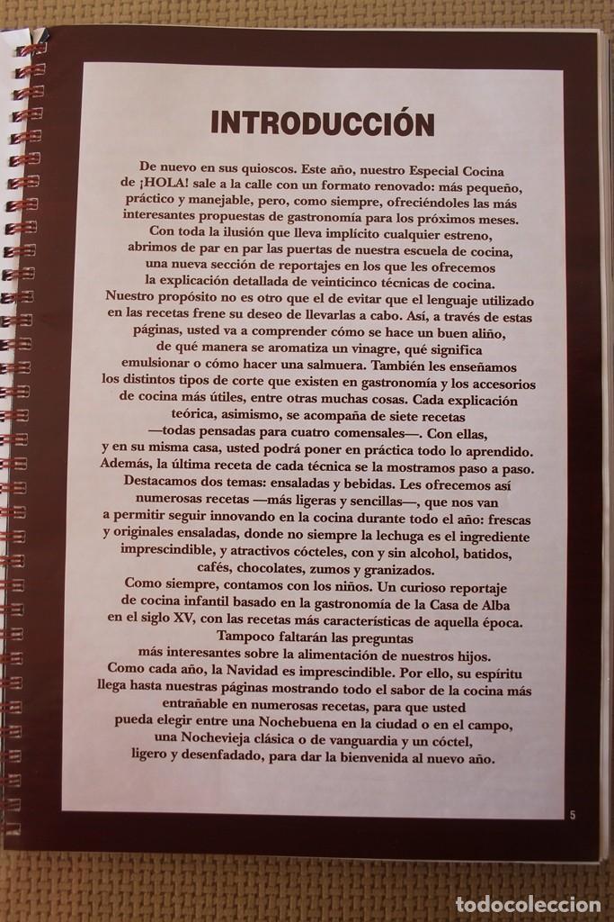 Coleccionismo de Revista Hola: REVISTA HOLA NUMERO ESPECIAL COCINA NUEVO FORMATO PRACTICO CON MAS DE 260 RECETAS EN PERFECTO ESTADO - Foto 2 - 109343587