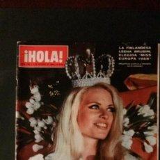 Coleccionismo de Revista Hola: MISS EUROPA-BRITT EKLAND-MEDIAS-CATHERINE SPAAK. Lote 109428467