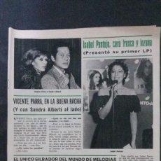 Coleccionismo de Revista Hola: RECORTE REVISTA HOLA-1977-ISABEL PANTOJA. Lote 109428551
