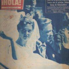 Coleccionismo de Revista Hola: ¡ HOLA ! BODA DE LA PRINCESA BIRGITTA DE SUECIA CON EL PRINCIPER JOHANN GEORG DE HOHENZOLLEN. Lote 109471443