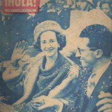 Coleccionismo de Revista Hola: ¡ HOLA ! FABIOLA DE MORA *** EL RICIPE RANIERO Y LA PRINCESA GRACE DE MONACO. Lote 109471863