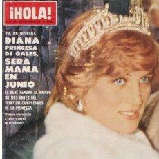 Coleccionismo de Revista Hola: REVISTA HOLA NUMERO 1943. AGNETHA FALTSKOG GRUPO ABBA, DIANA DE GALES. Lote 111160379
