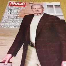 Coleccionismo de Revista Hola: REVISTA HOLA / 3623 / ENERO 2014 / EL REY NOS RECIBE CON MOTIVO DEL SETENTA ANIV. DE !HOLA!. Lote 111505135