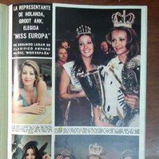 Coleccionismo de Revista Hola: REVISTA AÑO 1974 MISS EUROPA GROOT ANK AMPARO MUÑOZ. Lote 112156179