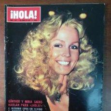 Coleccionismo de Revista Hola: REVISTA HOLA Nº 1597 AÑO 1975 GUNTHER Y MIRJA SACHS MARIA CALLAS FESTIVAL EUROVISION TIP. Lote 112157911