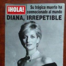 Coleccionismo de Revista Hola: REVISTA HOLA Nº 2770 AÑO 197 MUERTE LADY DI DIANA DE GALES. Lote 144555581