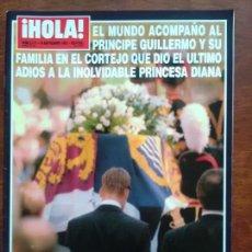 Coleccionismo de Revista Hola: REVISTA HOLA Nº 2271 AÑO 1997 ENTIERRO LADY DI MADRE TERESA DE CALCUTA MUERTE. Lote 112240859
