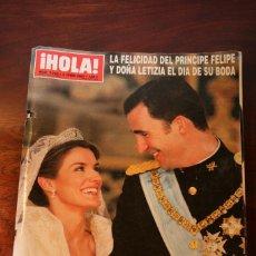 Coleccionismo de Revista Hola: REVISTA HOLA. Nº 3122. BODA PRINCIPE FELIPE Y DOÑA LETIZIA.. Lote 113443923