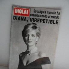 Coleccionismo de Revista Hola: HOLA DIANA IRREPETIBLE SU TRAGICA MUERTE HA CONMOCIONADO EL MUNDO 11-09-1997. Lote 113647415