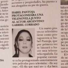 Coleccionismo de Revista Hola: RECORTE REVISTA HOLA 2751. 1997. ISABEL PANTOJA. Lote 113820575
