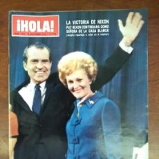 Coleccionismo de Revista Hola: HOLA REVISTA NUMERO 1473 AÑO 1972 NIXON SYLVA KOSCINA PRET A PORTER ALTA COSTURA FRANCESA. Lote 114022903