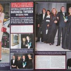 Coleccionismo de Revista Hola: RECORTE HOLA 2773 1997 BARONESA THYSSEN, TITA CERVERA. Lote 114763243