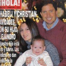 Coleccionismo de Revista Hola: REVISTA HOLA Nº 3047 AÑO 2003. CHABELI Y CHRISTIAN. BODA CRUZ SORIANO Y JUAN ALBERTO. DAVID BISBAL.. Lote 116475271