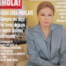 Coleccionismo de Revista Hola: REVISTA HOLA Nº 3088 AÑO 2003. FARAH DIBA PAHLAVI.CARMEN SEVILLA.ANA OBREGON Y DAVOR SUKER.HUNBERTO.. Lote 116477539